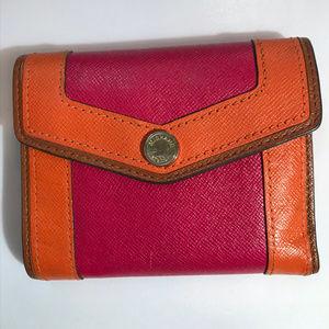 Michael Kors Red Orange Button Wallet